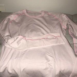 Lululemon swiftly tech long sleeve in light pink